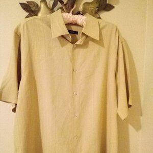 Vintage Alfani Men's Button Down 100% Silk Size M